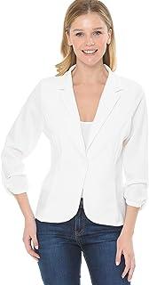 MINEFREE 女式七分袖轻质休闲针织外套夹克(S-3XL)