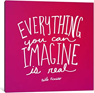"iCanvasART 1 Piece Imagine Pink Canvas Print by Leah Flores, 26 by 26""/1.5"" Deep"