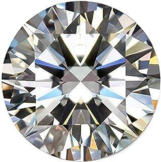 AAA++ 白色莫桑石钻石 1.30 克拉圆形切割 VVS1 净度 颜色 DF 白色莫桑石钻石宽松宝石