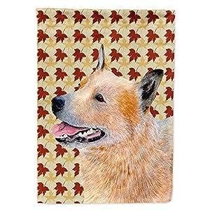 Australian Cattle Dog Fall Leaves Portrait Flag 多色 大