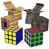 aGreatLife Speed Cube Brain Teaser 捆绑包:两套 3x3 速度立方体 - 全时*爱的脑袋拼图 - 儿童和成人的*佳魔方游戏礼物
