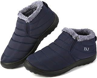 gracosy 保暖雪地靴,冬季温暖及踝靴,毛皮衬里靴,防水加厚冬季男女鞋