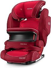 德国RECARO Monza Nova IS Seatfix Performance儿童安全座椅超级莫扎特 2017款-印第安红色(德国进口,香港直邮)适合9kg-36kg,9个月-12岁,座椅宽大,带前置护枕,带isofix硬接口,充气头靠和音响系统。头枕高度可调,fix接口动态调节。(包邮包税)