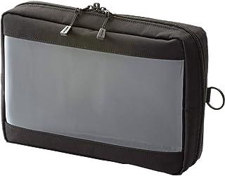 Lihit lab. Clear Box 收纳袋 本体サイズ:250x180x60mm A5 黑色