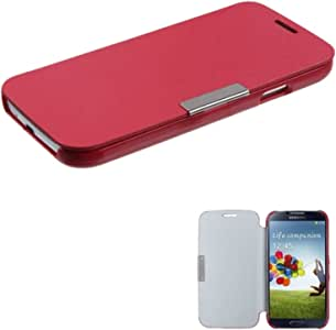 MyBat Premium BookStyle MyJacket Wallet for Samsung Galaxy S 4 - Retail Packaging - Red