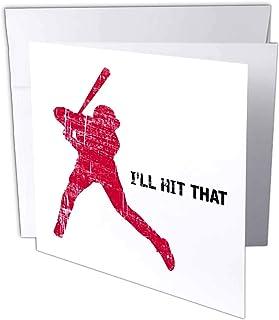 Carsten Reisinger - 插图 - 棒球运动员会热爱有趣剪影,效果不佳 - 贺卡 Individual Greeting Card