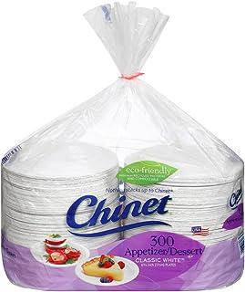 Chinet 经典白色甜点盘,300 ct 6 3/4 英寸(17 厘米)
