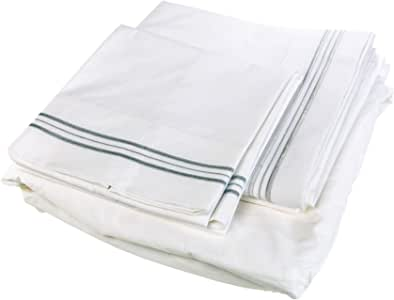 Pur-Well Living 意大利灵感条纹 5 星酒店和水疗系列床单套装,带床单,床笠,(2)枕套 *蓝 King