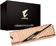 GIGABYTE AORUS NVMe Gen4 M.2 2TB PCI-Express 4.0 接口高性能游戏,全身铜热散布器,东芝 3D NAND DDR 缓存缓冲器,5 年保修 SSD GP-ASM2NE6200TTTD