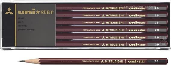 三菱鉛筆 鉛筆 uni star 系列 2B 1cm×19cm