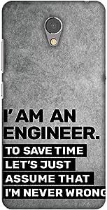 AMZER 纤薄款手工制作设计师印花硬质壳后盖与屏幕清洁套件皮肤 适用于联想 P2AMZ601040242072 Proud To Be A Engineer 3