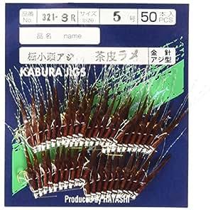 林垂钓渔具制作所 50支装 土佐茶叶 茶色真皮金属鱼片 极小头 5号