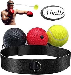 拳击反光球套装 – 3 个难易度水平球带舒适的头带,适合反应、敏捷性、拳击速度、战斗技能和手眼协调训练