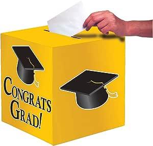 Creative Converting Congrats Grad 卡片盒 校车黄色 均码 083315