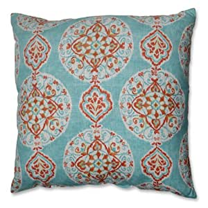 Pillow Perfect Mirage 抱枕 蓝色橙色 24.5-inch Floor Pillow 517186