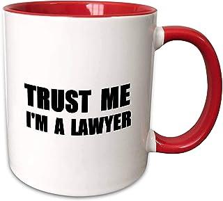 3dRose 马克杯_195611_5 Trust me I'm a Lawyer - fun Law humor - 趣味工作办公室礼物 - 双色红马克杯,311.84 克