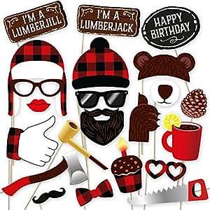 Lumberjack 摄影亭道具 黑色,红色,棕色 43219-94995