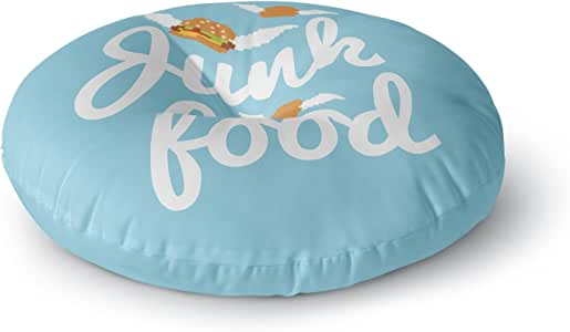 "KESS InHouse KESS 原创""Junk Food""汉堡圆形地板枕,58.42 cm x 58.42 cm 多种颜色 26"" x 26"" KIH256ARF02"