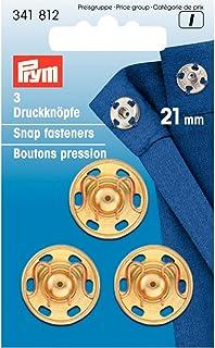 Prym 21 毫米缝扣紧固件,3 件装,黄铜金