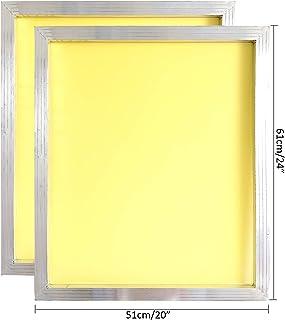 铝丝网印刷丝网印刷 50.8 x 60.96 厘米框架-230 黄色网格 2 PCS YLZSYWB5161230