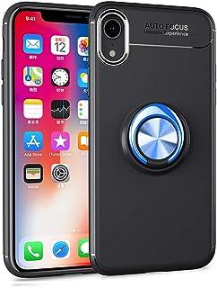 HONTECH 兼容 iPhone XR 6.1 英寸 2018 手机壳,超薄柔软 TPU 360 旋转磁性车载支架支架