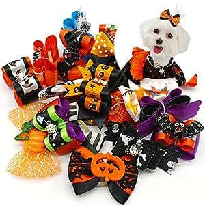 Didog 20 只装万圣节猫发蝴蝶结带幽灵和南瓜