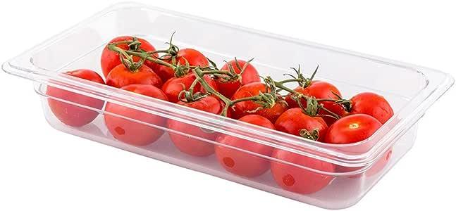 冷食平底锅 - 塑料冷食储存容器 - 全尺寸 - 6.35 厘米深 - 透明 - 1 盒 - Met Lux-餐厅 透明 One-third size RWT0060