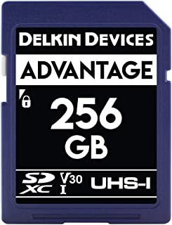 Delkin 德尔金 Devices 256GB Advantage SDXC UHS-I (V30) 内存卡 (DDSDW633256G)