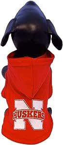 NCAA 内布拉斯加玉米饼学院棉莱卡连帽狗衬衫(球队颜色,XXXL 码)