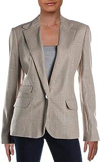 LAUREN RALPH LAUREN 女式 Alarice 亚麻混纺格子外套
