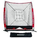 美国 Rukket 5ft x 5ft 棒球垒球投手练习网挡网 带目标框