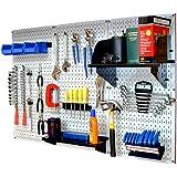 Wall Control 30-WRK-400W Standard Workbench Metal Pegboard Tool Organizer 白色/黑色
