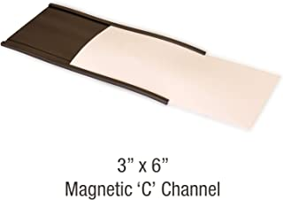 "SmartSign 磁性""C""槽标签夹,适用于金属架和架子 | 7.62 cm x 15.24 cm 25 件"