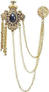AN KINGPiiN 皇冠宝石 金雕 名誉硬币 翻领别针 胸针 西装铆钉 衬衫铆钉 男士配饰