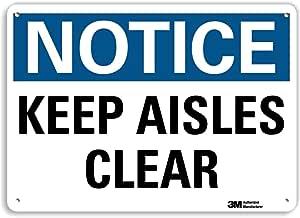 "Smartsign U5-1278-RA_14X10""NOTICE KEEP AISLES CLEAR"" 反光再生铝标志,35.56 厘米 x 25.4 厘米"