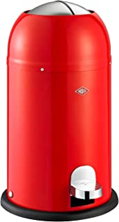 Wesco Kickmaster Waste Can, 4-Gallon, 15-Liter, Junior Red