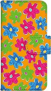 智能手机壳 手册式 对应全部机型 印刷手册 wn-386top 套 手册 花朵图案 UV印刷 壳WN-PR061416-MX AQUOS Xx2 502SH B款