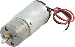 Uxcell a12071000ux1045 DC 24V 1000RPM 0.08A Micro Motor w Double Wires, Silver Tone