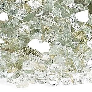 American Fireglass 10 磅反光玻璃 壁炉玻璃火炉玻璃火焰坑玻璃 1/4 Inch x 10 Pounds AFF-PLAT
