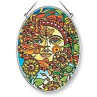 Amia 42454 手绘玻璃秋日太阳,手绘玻璃椭圆形太阳镜,17.78 cm 高