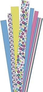 RAYHER 719000 纸条花花园 90 件 FSC 混合信贷自助袋/90 个装,粉色