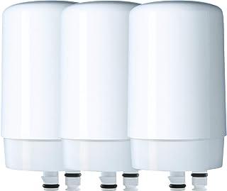 BRITA 碧然德  自来水过滤系统替换过滤器,适用于水龙头,3件,白色,3