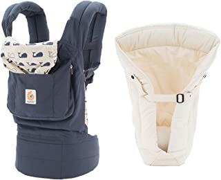 Ergobaby 原装婴儿背带(海洋 + 天然衬垫,均码)