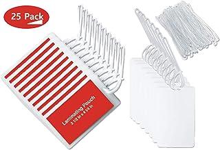 1 InTheOffice 透明层压袋带环附件,行李标签风格 6.35 厘米 x 10.16 厘米 - 25 个装
