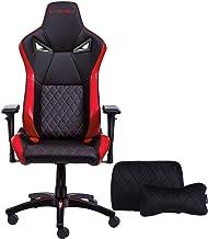 KARNOX TR 新款赛车风格游戏椅 高度可调节扶手 符合人体工程学 155 ° 斜倚 锁定高靠背带集成头枕 大 红色