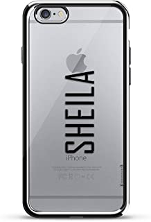 LUXENDARY CASE 对开式 黑色LUX-I6CRM-NMSHEILA2 Name: SHEILA, Modern FONT Style 银色