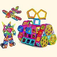 指玩奇特 磁力片积木 拼插玩具 儿童磁力玩具 男孩女孩玩具 儿童玩具 宝宝早教益智玩具 1-2-3周岁礼物 6-8-10周岁礼物 雪花片 (纯92片套餐)
