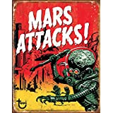 Mars Attacks Tin Sign 13 x 16in