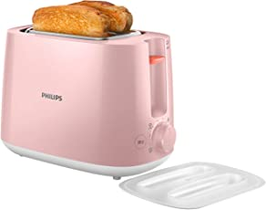 Philips 飞利浦 多士炉 吐司机 全自动家用烤面包机 内置烘烤架带防尘盖 HD2584/50粉色