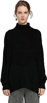 女式毛衣束腰毛衣羊絨毛衣牛仔褲和打底褲寬松休閑長袖弧形下擺